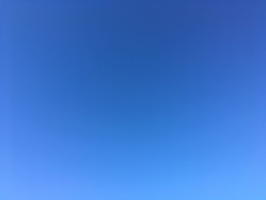 blue sky and only blue sky