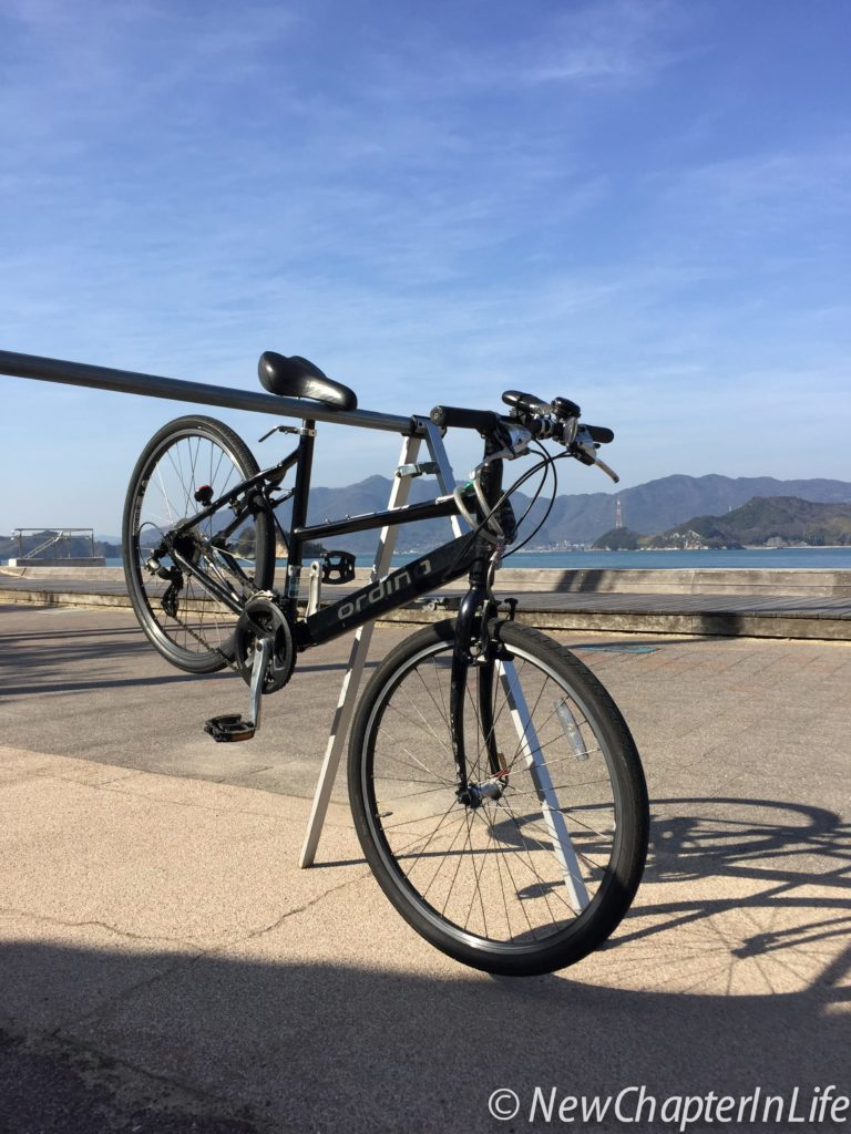 My rented Bike at the Innoshima Ohashi Memorial Park