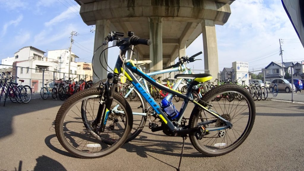 Our bikes at the JR Imabari Station Rent-a-cycle Terminal