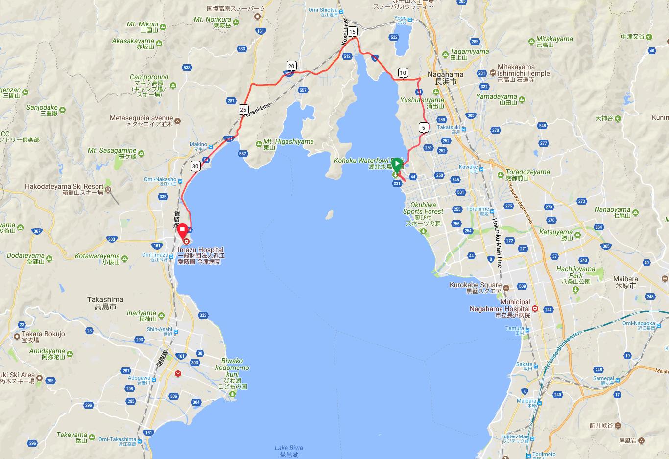 Lake Biwa Map