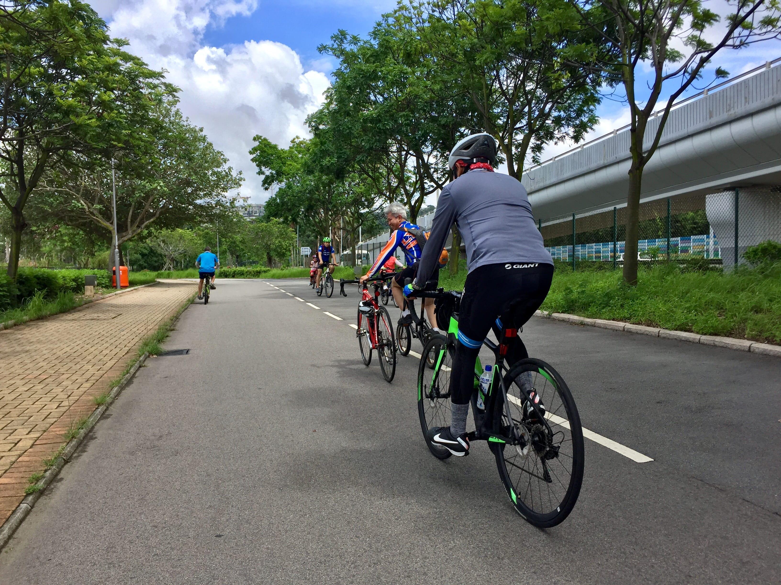 Two riders & three bikes